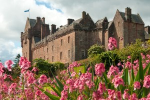 _media_58399_1022 Arran, Brodick Castle, External, Flowers in foreground close up